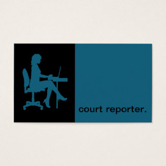 Modern Icon Silhouette court reporter | blue