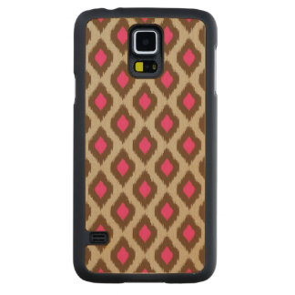 Modern ikat pattern carved maple galaxy s5 case