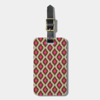 Modern ikat pattern luggage tag