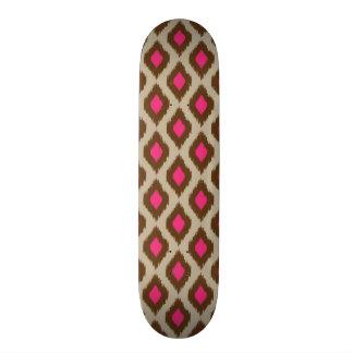 Modern ikat pattern skateboards