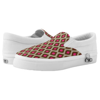 Modern ikat pattern Slip-On shoes