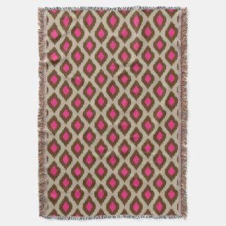 Modern ikat pattern throw blanket