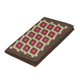Modern ikat pattern tri-fold wallets