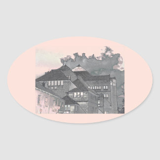 Modern in York II Oval Sticker
