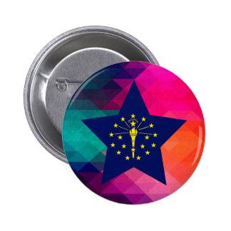 Modern Indiana Flag 6 Cm Round Badge