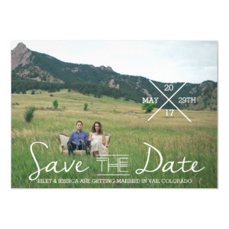 Modern Indie Typography | Save The Date Photo 13 Cm X 18 Cm Invitation Card
