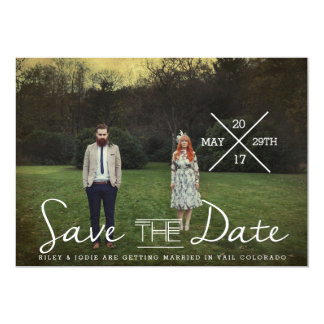 Modern Indie Typography | Save The Date Photo Card