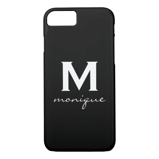 Modern Initial Monogram - Classic Black and White