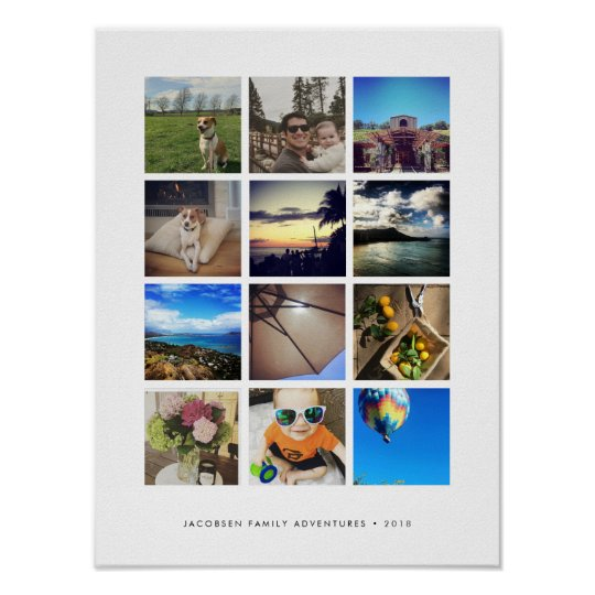 Modern Instagram Photo Collage Poster