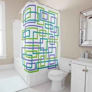 Modern Interlock Geometric Shower Curtain