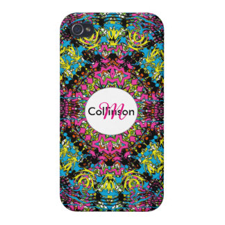 Modern Intricate Oriental Style Colorful Design Case For The iPhone 4