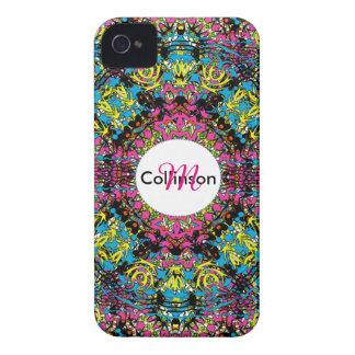 Modern Intricate Oriental Style Colorful Design Case-Mate iPhone 4 Case