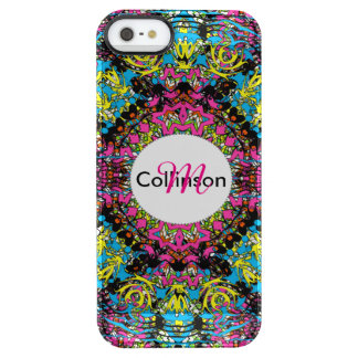 Modern Intricate Oriental Style Colorful Design Clear iPhone SE/5/5s Case