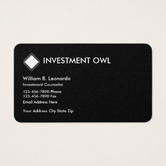Modern Investment Counselor Business Card