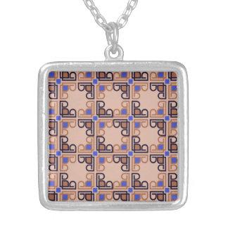 Modern Italian Renaissance mosaic Personalized Necklace