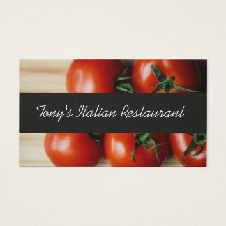 Modern Italian Restaurant Business Card