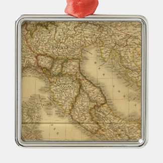 Modern Italy Silver-Colored Square Decoration