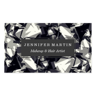 Modern Jagged Black Gray and White Geometric Pack Of Standard Business Cards