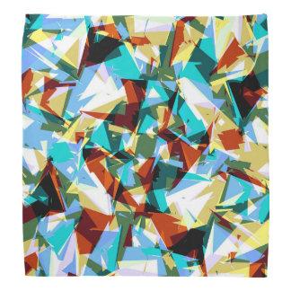 Modern Jagged Blue Green and Yellow Geometric Bandana