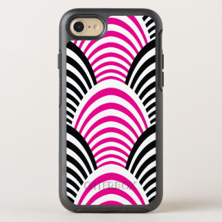 Modern Jazz Age Elegant Pink and Black 1920s OtterBox Symmetry iPhone 8/7 Case