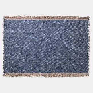Modern Jeans denim style blue jeans denim photo Throw Blanket
