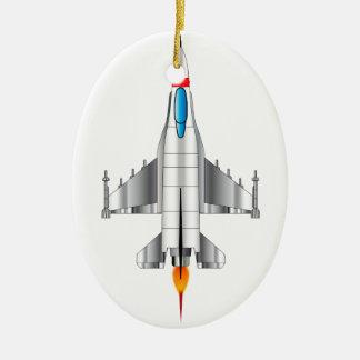 Modern Jet Fighter Plane Christmas Ornament