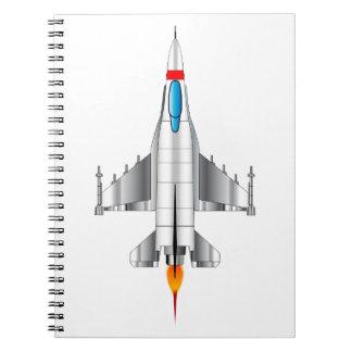 Modern Jet Fighter Plane Notebook