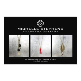 Modern Jewelry Designer Logo and Photography Black 14 Cm X 21.5 Cm Flyer