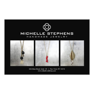 Modern Jewelry Designer Logo and Photography Black Flyer