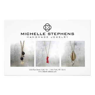 Modern Jewelry Designer Logo and Photography White 14 Cm X 21.5 Cm Flyer