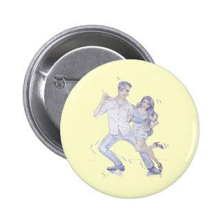 Modern Jive Ceroc Dancers Pin