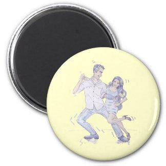 Modern Jive Ceroc Dancers Magnet