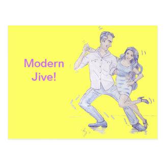 Modern Jive Ceroc Dancers Post Cards