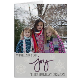 Modern Joy Folded Photo Card