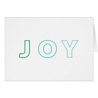 Modern Joy Ombre Green Aqua Christmas Holiday Card