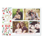 Modern Joy To The World Holidays Photo Card 13 Cm X 18 Cm Invitation Card