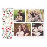 Modern Joy To The World Holidays Photo Card Personalized Invites