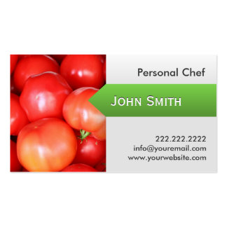 Modern Juicy Tomatoes Personal Chef Business Card