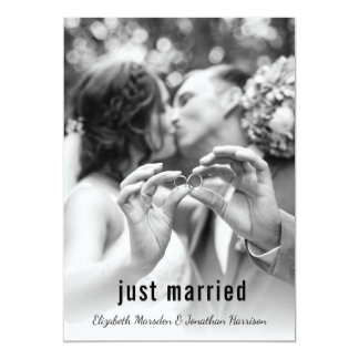 Modern Just Married Photo Announcement Reception