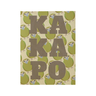 Modern KAKAPO wall art Wood Poster