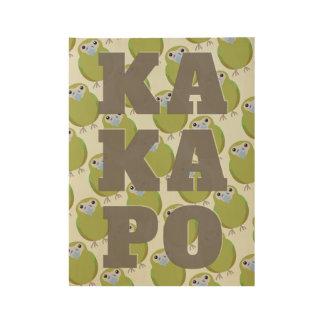 Modern KAKAPO wall art Wood Poster