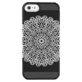 Modern kaleidoscope pattern clear iPhone SE/5/5s case