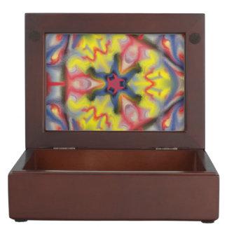 Modern kaleidoscope pattern keepsake box