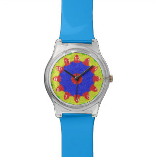 Modern kaleidoscope pattern watch