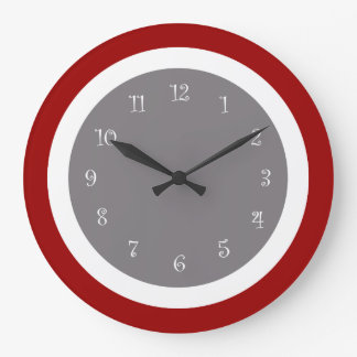 Red kitchen wall clocks Modern clocks for kitchen
