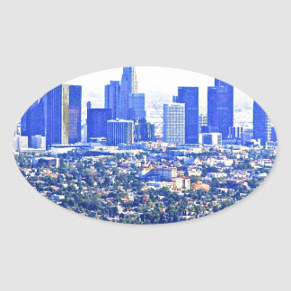 Modern LA Oval Sticker