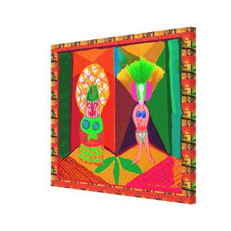 Modern LampPosts : Women at CentreStage Gallery Wrap Canvas