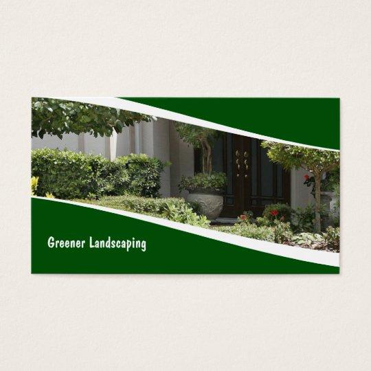 Modern Landscaping Design Business Card