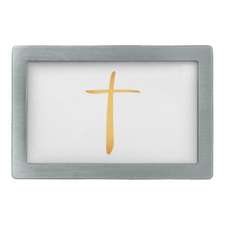 Modern Latin Christian Cross Rectangular Belt Buckles