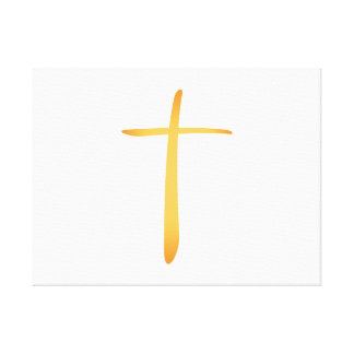 Modern Latin Christian Cross Gallery Wrapped Canvas